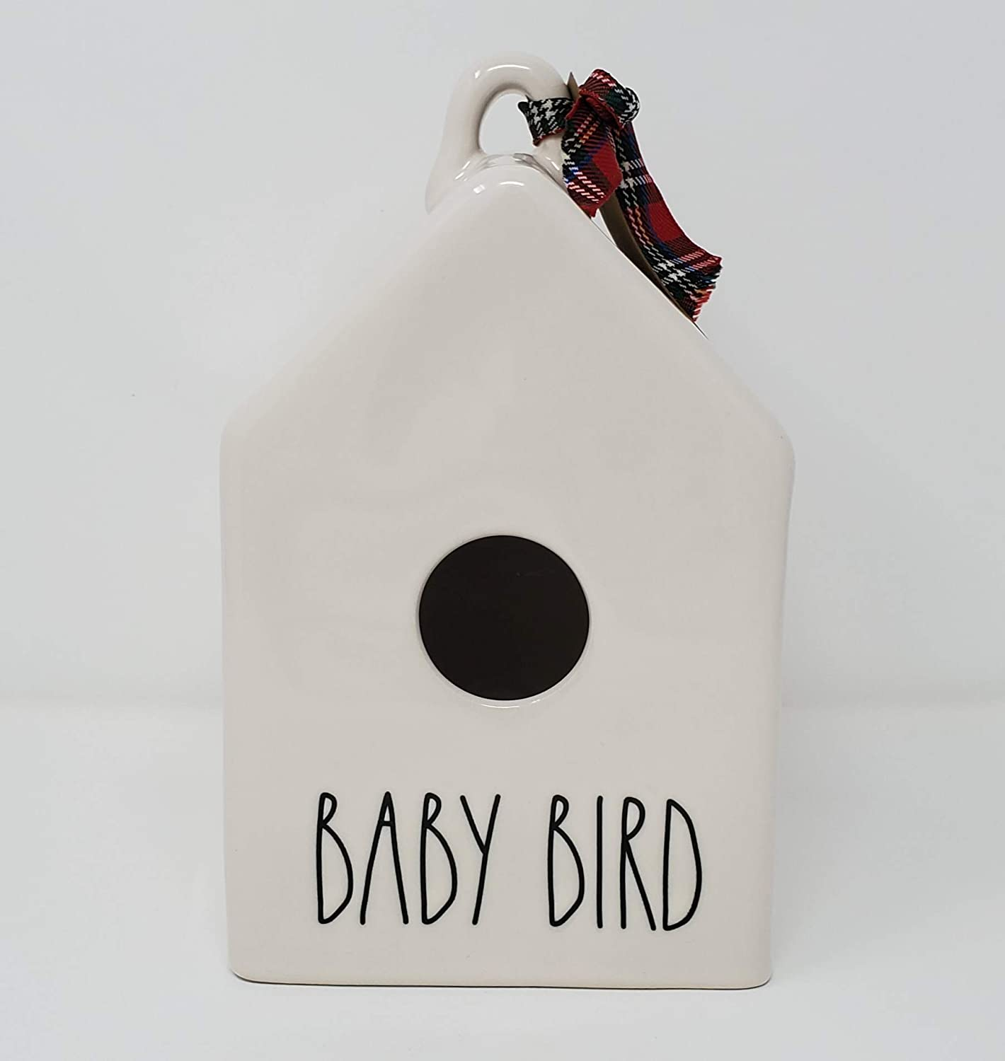 low-pricing Rae Dunn by Magenta Baby Bird Sale Special Price B Square Ceramic with Birdhouse LL
