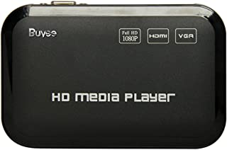 Portable Media Player, Buyee Full 1080P HD Multi Media Player 3 outputs HDMI, VGA, AV, 2 inputs SD Card & USB Reader for H...