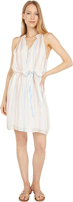 Gathered Halter Mini Dress