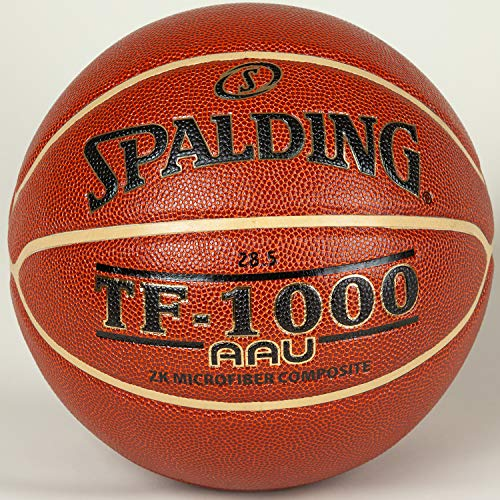 Spalding TF-1000 ZK Intermediate Size 6, 28.5' W/AAU Decoration (Amateur Athletic Union) Gold Color Deep Channel Design