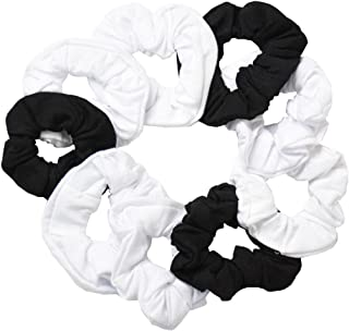 black and white scrunchies