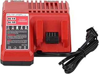 Replace M18 Lithium-ion Battery Charger for Milwaukee 14.4v - 18v Combo Charger for 48-11-1815