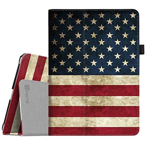 Fintie iPad 9.7 2018/2017, iPad Air 2, iPad Air Case - [Corner Protection] Premium Vegan Leather Folio Stand Cover, Auto Wake/Sleep for iPad 6th / 5th Gen, iPad Air 1/2, US Flag