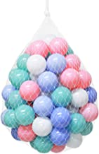 Wonder Space Soft Pit Balls, Smooth Crush-Proof Plastic Ocean Ball, Phthalate & BPA Chemicals Free with No Smell, Safe for Toddler Ball Pit/ Kiddie Pool/ Indoor Baby Playpen, 50 Pack (Mixed 4 Colors)