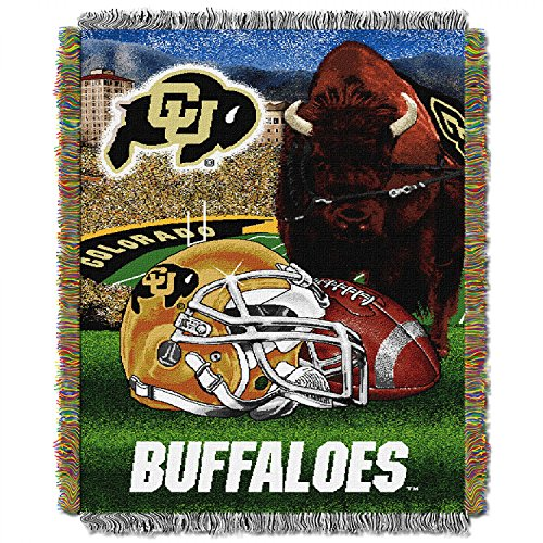 """Colorado Buffaloes """"Home Field Advantage"""" Woven Tapestry Throw Blanket, 48"""" x 60"""""""