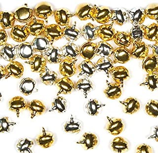 Baker Ross Gold and Silver Jingle Bells — Creative Christmas Art and Craft Supplies for Kids' Projects and Decoration (Pack of 150)