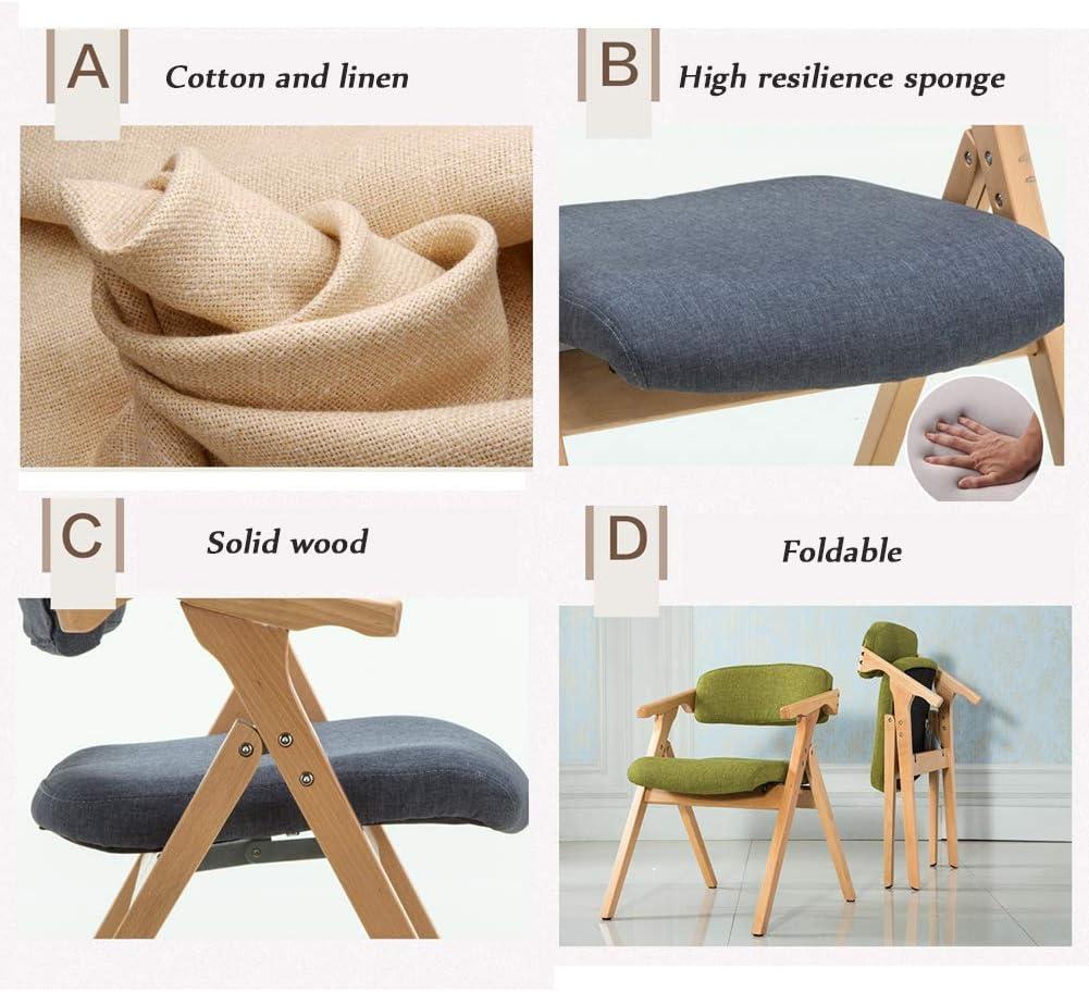 Chaise THBEIBEI Confortables Jambes épaisses Massifs Confort Optimal Poids Maximum Forme Lumière Parfaite saleté Preuve X Massifs (Color : Green) Green