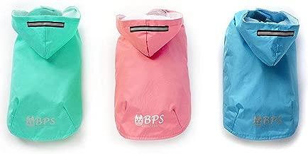 BPS® Chubasqueros Impermeables para Mascotas Perros, Impermeables con Capucha para Perro Pequeño Mediano y Grande con Material 100% Poliéster (Azul 2, 40cm) BPS-9469AZ2