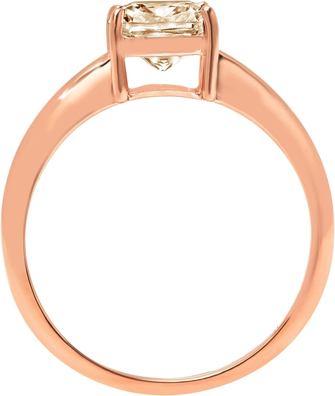 2.0 ct Brilliant Cushion Cut Solitaire Designer Genuine Natural Morganite Gemstone Ideal VVS1 4-Prong Engagement Wedding Bridal Promise Anniversary Ring Solid 14k Rose Pink Gold for Women