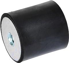 Ganter Normelemente GN 351-30-30-M8-EE-55 351-30-30-M8-EE-55 rubberen doppen, zwart, schroefdraad: M8 diameter: 30 mm, 10 ...