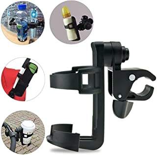 Wheelchair Cup Holders, ProCIV Bike Cup Holder fits Baby Stroller, 360 Degrees Universal Pushchair Bicycle Strollers, Bike, Mountain Bike and Wheelchair, Black