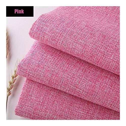 Pure linnen stof linnen materiaal, roze zachte effen linnen look bekleding stof, 39 inch linnen stof voor dressoir, gordijnen, bruiloft, bekleding bloempot decoratie en tafelkleed (100 CM X 148 CM)