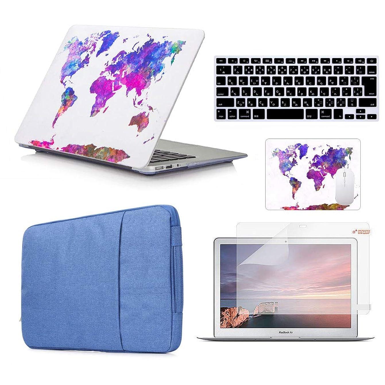 前兆壁珍しいDAZZME MacBook Pro 13インチケース 2016 2017 Pro 13インチ用バッグ Pro 13インチ2016/2017用キーボード MacBook 用マウスパッド 液晶モニター保護フィルム 便利 全面保護 衝撃吸収 丈夫なゴム足 防塵 薄型 耐久性 (対応モデル:A1706/A1989 Touch Bar搭載モデル) しょく地図