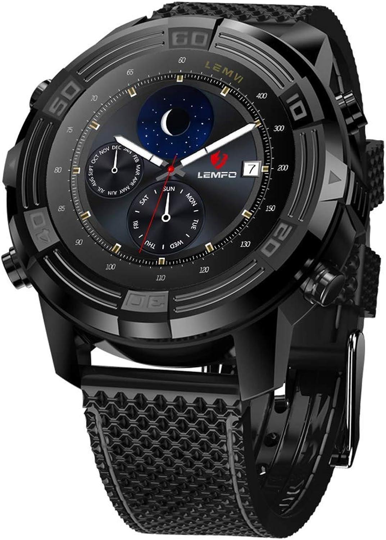 YSCYLY Fitness-Tracker Smart Watch GPS 1 GB 16 GB IP67 Wasserdichte Uhren Blautooth WiFi Compass-Herzfrequenz für Android 5.1