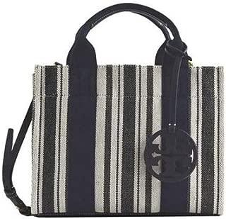 Tory Burch Women's Miller Striped Mini Miller Tote Handbag