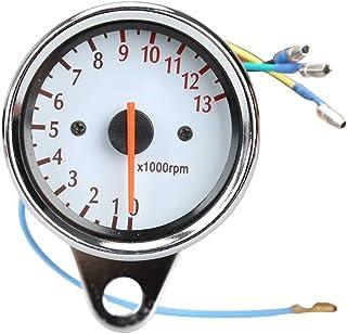 Motorrad Tachometer   TOOGOO(R) Universal Motorrad Roller 13000 RPM Analog Tachometer Lehre Nachtlicht