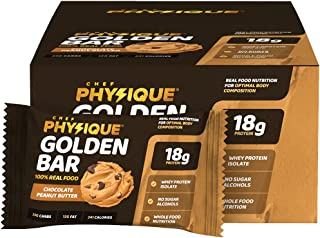 Chef Physique High Protein Bars – Healthy Whole Food Snacks Bar, Gluten Free, Fit Energy Snack Built with Whey Isolate & T...