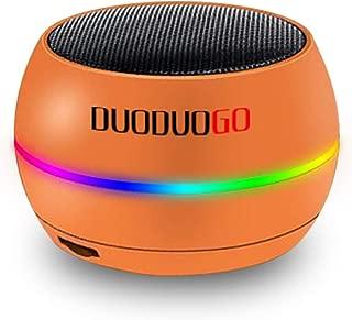 Portable Wireless Bluetooth Speaker,DUODUOGO Bluetooth Smart Speaker with HD Sound/Bluetooth 4.1 / FM Radio Support, Cool Wireless Speakers for Smartphone/Tablet/Laptop/Echo dot (Orange)