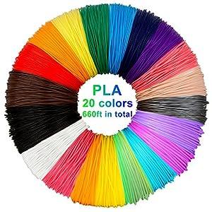 3D pluma filamento 20 colores 10m PLA Materiales de Impresión 3D para la 3D Pluma 1.75mm PLA-10 metros (32.8ft) cada color