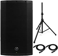 Mackie Thump12BST Thump Boosted 1300W 12-inch Advanced Powered Loudspeaker Bundle with Knox Air Cushion Speaker Stand and Two XLR Microphone Cables (4 Items)