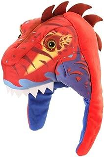 Jiglz Fun Warm Fleece Character Hat Kids One Size Dinosaur Boys or Girls