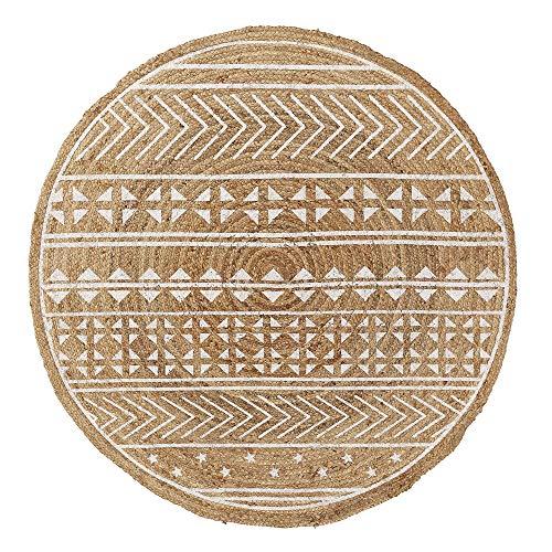 Kave Home - Alfombra Redonda Cecily de Yute con Impreso