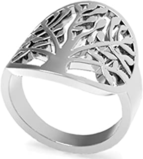 Stainless Steel Tree of Life Ring Statement Promise Anniversary Cocktail Party