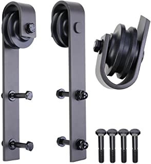 PENSON & CO. SDH-R230-02 Sliding Barn Door Hardware Antique Style Roller-Black (2 Pack)