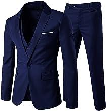 Cloudstyle Traje suit hombre 3 piezas chaqueta chaleco pantalón traje al estilo occidental