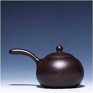 Teapot Zisha Pot Xi Shi Black Zhu Mu Tang Yu Xi Shi Teapot Handmade Vintage Retro Unique Tea Set YJXUSHYQ (Color : Brown)