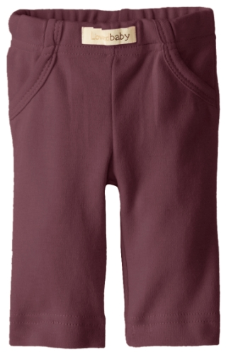 L'ovedbaby Unisex Baby Organic Signature Pants, Eggplant, 0-3 Months