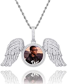 GUCY Hip Hop Jewelry Picture Pendant Necklace for Women Men Personalized Custom Photo Pendant Necklace