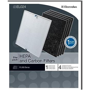Genuine Electrolux HEPA and Carbon Filters EL024 - 1 HEPA filter, 4 carbon filters