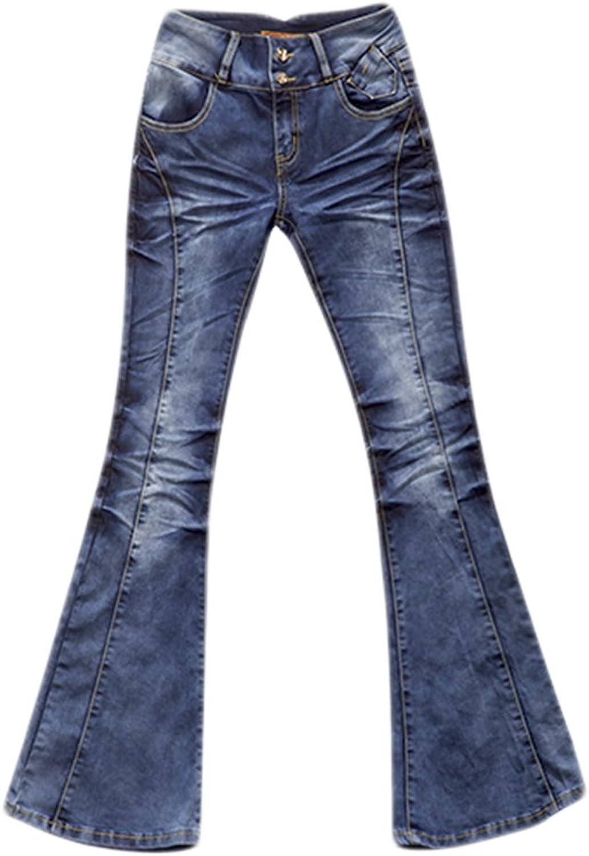 AvaCostume Womens Vintage Tiedye Bootcut Denim Jeans