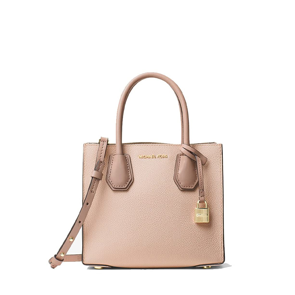 蒸防衛雄弁MICHAEL KORS MERCER MEDIUM MESSENGER TRY-TONE SOFT PINK(ピンク) [並行輸入品]