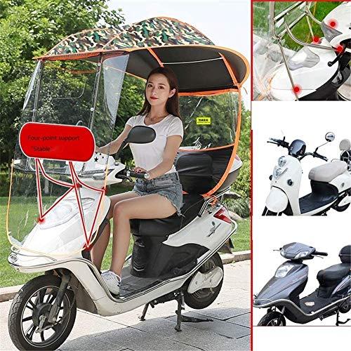 Elektrische motor scooter regenhoes, motorfiets elektrische zonnescherm Voertuig paraplu regenjas Poncho Cover Shelter