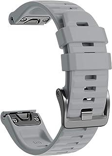 Chainfo Repuesto de Correa de Reloj de Silicona Compatible con Garmin Fenix 5 / Fenix 5 Plus/Fenix 6 / Fenix 6 Pro/Quatix ...