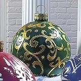 LUCEISS Bola Gigante NavideñA De PVC Decorada - Bolas Inflables De Adornos De Navidad,Adornos De Navidad Bolas Al Aire Libre (C)
