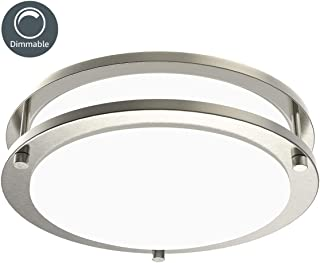 silver flush mount ceiling light