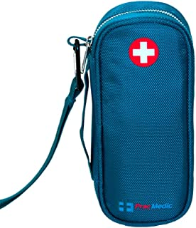 PracMedic EPIPEN Case, Insulated - Holds 2 Epi Pens or Auvi-Q, Asthma Inhaler, Anti-Histamine, Nasal Spray, Eye Drops, Medicine, Vials, Syringes, Ice Pack- Sold Empty (Teal)