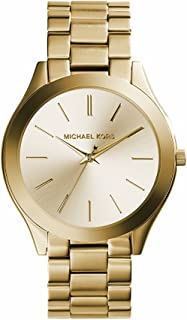 michael kors Women 's 41 mm acero inoxidable goldtone Slim Runway Reloj