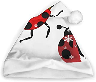 Christmas Caps Ladybug Insect Unisex Novelty Christmas Santa Hats Party Cap Xmas Hat