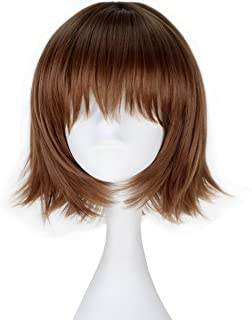 Miss U Hair Synthetic Short Straight Brown Hair Girl's Anime Cosplay Costume Wig C141