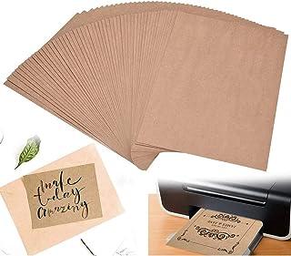BETOY 100 fogli di Carta Kraft,Cartoncini di carta riciclata, cartoncini colore marrone naturale, DIN A4, cartone natural...