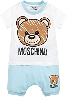 Moschino Baby T-Shirt and Shorts with Toy Bear Head Graphic, Navy