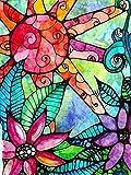 LFLFLF Rompecabezas de 2000 Piezas para Adultos, Gran Rompecabezas de Flores de Color, Regalo Personalizado de Rompecabezas de Bricolaje, Ideal para el Ocio, la meditación y los Pasatiempos