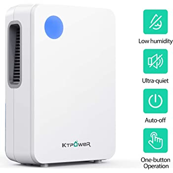 KTPOWER Dehumidifier 2500 Cubic Feet (292 sq ft), Compact and Portable 2000ml (68 oz) for High Humidity Remove 27 oz, Dehumidfiers for Home, Basements, Kitchen, Bedroom, Caravan, Garage, Auto Shut- off