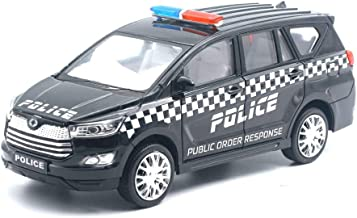 Amisha Gift Gallery® Centy Toy Police Order Response Innova Crysta Pull Back Car Toy for Kids (Black)