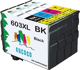 GUCOCO 4 Cartuccia d'inchiostro Compatibile per Epson 603 603 XL per Epson Expression Home XP-2100 XP-2105 XP-3100 XP-4105...