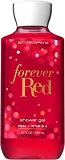 Bath and Body Works FOREVER RED with Shea and Vitamin E Shower Gel 10 Fluid Ounce (2018 Limited Edition)